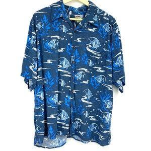 Reyn Spooner Vintage Hawaiian Shirt Angel Fish